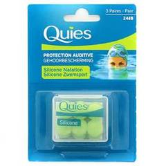 Protections auditives Maxi QUIES, 3 paires en silicone