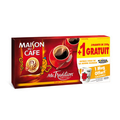 Cafe moulu Maison du Cafe Tradition 3x250g