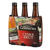 Cidre brut Les Goelleries 4,5% vol - 3x33cl