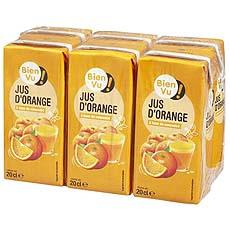 Jus d'orange BIEN VU, 6x20cl