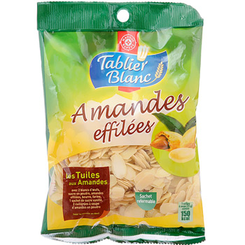 Amandes Effilees Tablier Blanc 125g