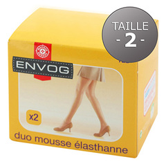 Lot de 2 collants Envog mousse Lycra taille 2 gris moyen