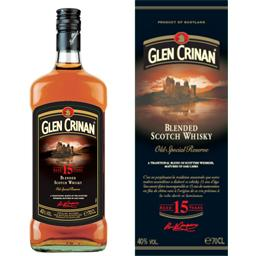 Glen Crinan, Blended Scotch Whisky 15 ans d'âge, la bouteille de 70 cl