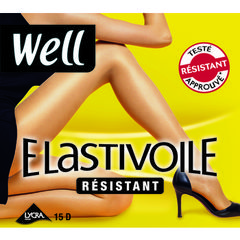 Collant elastivoile resistant WELL noir T2