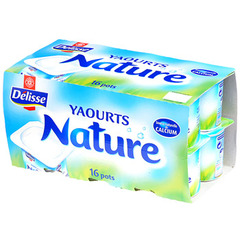 Yaourts nature Delisse 16x125g