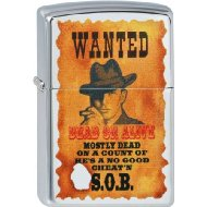 Zippo Briquet #250 Wanted Poster