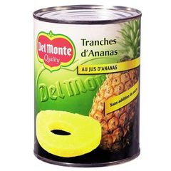 Del Monte ananas tranches au jus d'ananas 560g
