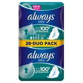 Always serviettes hygieniques ultra normal plus X28 duopack