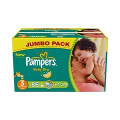 Couches Pampers Baby Dry Jumbo box T3 x86