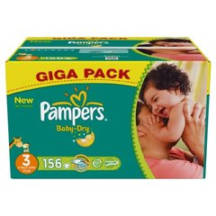 Pampers baby dry giga pack T3 x156