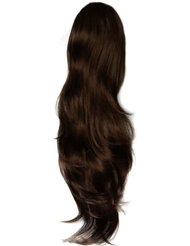 Hothair - Glam - Extensions cheveux - Queue de cheval - Clip - 70 cm - Brun auburn