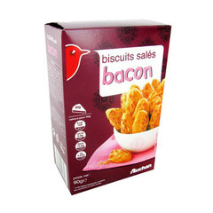 Auchan biscuits sales bacon 90g