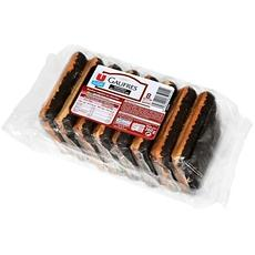 Gaufres nappees de chocolat U, 8 pieces, 360g