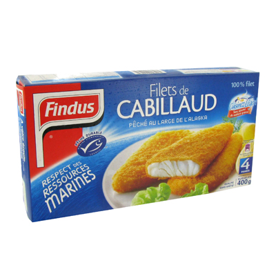 Findus filet pane de cabillaud x4 -400g