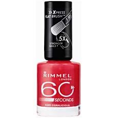 Vernis a ongles 60 Seconds RIMMEL, n°430 Coralicious, 8ml