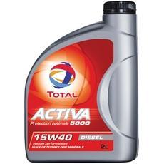huile 15w40 pour moteurs diesel activa 5000 total 2l tous les produits automobile moto. Black Bedroom Furniture Sets. Home Design Ideas