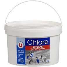 Chlore choc en granules u seau de 2kg tous les produits for Chlore choc piscine