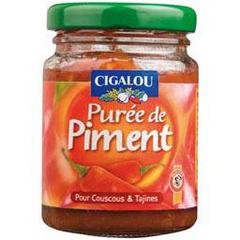Cigalou, Puree de piment, le pot de verre de 90g