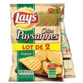 chips paysanne 2x150g lay's