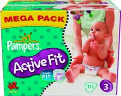 Pampers active fit taille 3 4-9kg x111