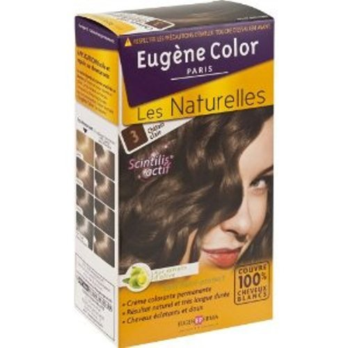 Coloration creme permanente EUGENE COLOR, Claudia, chatain clair n°3
