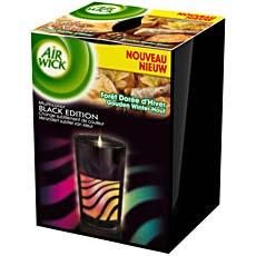BOUGIE AIR WICK MULTICOLOR BLACK EDITION FORET DOREE D' HIVER