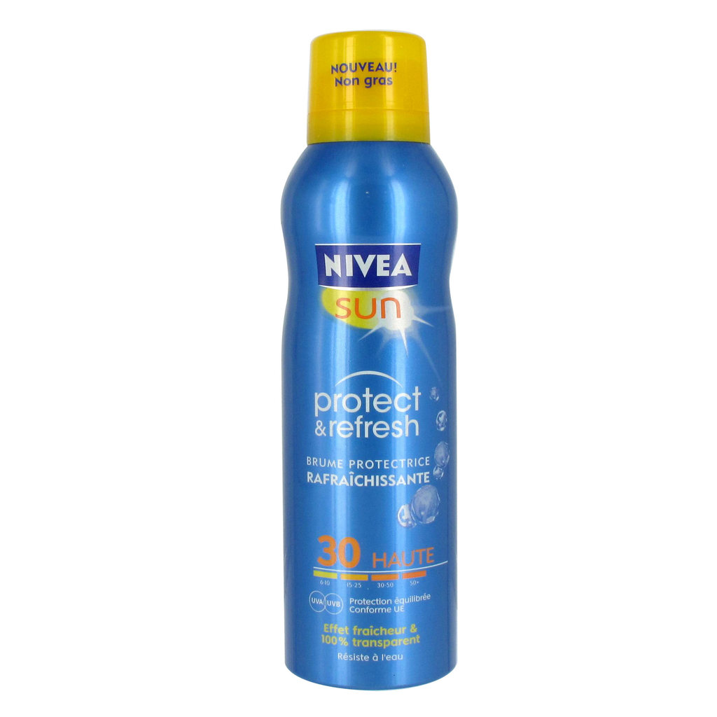 Nivea sun, Brume protectrice rafraichissante protect & refresh fps 30 , le spray de 200 ml