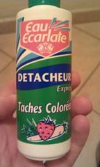 Eau Ecarlate - 91 - Détacheur SOS Taches Colorées - Flacon 100 ml - Lot de 3