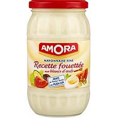 Amora mayonnaise recette fouettee aux blancs d'oeufs bocal 465g