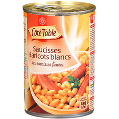 Haricots Blancs Cote Table Saucisses Fumees 420g