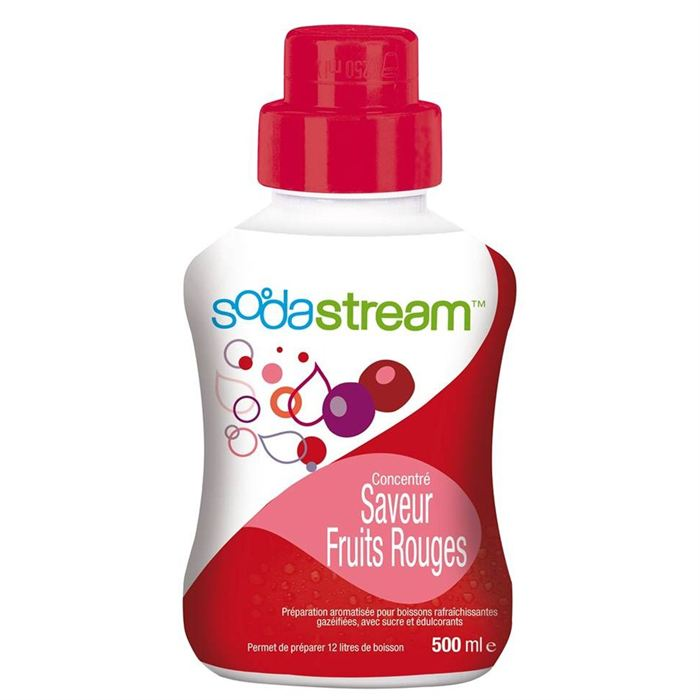 Sirop concentré saveur fruits rouges SODASTREAM, flacon de 500ml