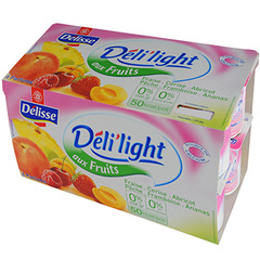 Yaourts Deli'light Fruits 0% 16x125g