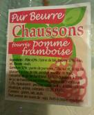 Chausson pomme framboise, 4 pièces, 340g