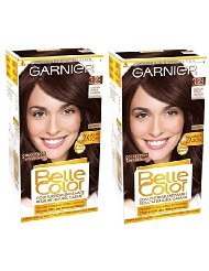 Garnier Belle Color Terre de Soleil 3.23 Coloration Permanente Châtain Fonce - Lot de 2