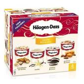 HAAGEN DAZS SPECIALITE INDIVIDUELLE MINI-CUPS CLASSIQUE VANILLA ATTRACTION X4 400ML