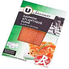 Saumon fume d'Ecosse Label Rouge U, 2 tranches, 80g