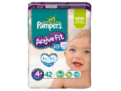 Pampers active fit 9-20kg geant T4 + maxi + x42