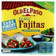 OLD EL PASO PRET A CONSOMMER KITS BASE TORTILLA SANS PIMENT FAJITAS SANS PIMENT 478G STD
