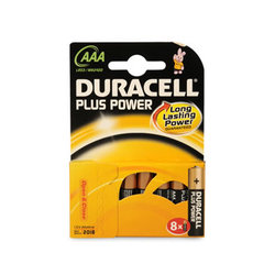 PILE DURACELL AAA LR03 PLUS POWER X8