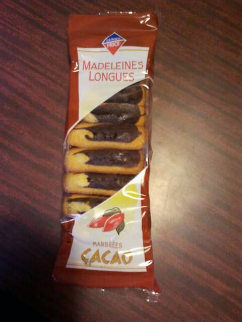 Madeleines longues marbrées cacao 250g