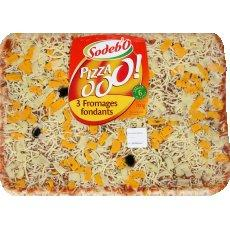 Pizza'O 3 fromages fondants SODEBO, 700g