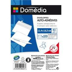 Domedia, Enveloppes auto-adhesives 11,4x16,2 cm, le paquet de 100