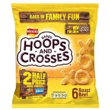 Walkers Hoops & Crosses - Roast Beef (6x18g)