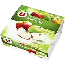 Desserts de fruits pomme nature U, 4x100g