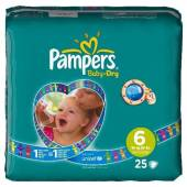Pampers baby dry midpack change x25 taille 6