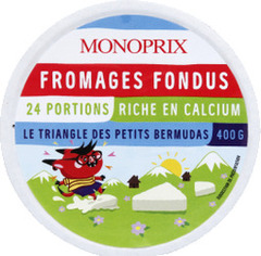 Fromages fondus en portions, riche en calcium