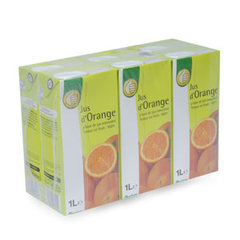 Jus d'orange par 6 briquess