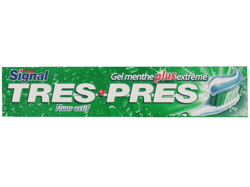 Dentifrice tres pres Gel Menthe Extreme
