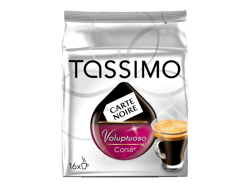 Tassimo T-Disc Carte Noire Café Long Intense 16 Dosettes de 128 g - Lot de 3