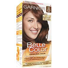 coloration permanente belle color chatain clair dore acajou n53 - Chatain Clair Coloration